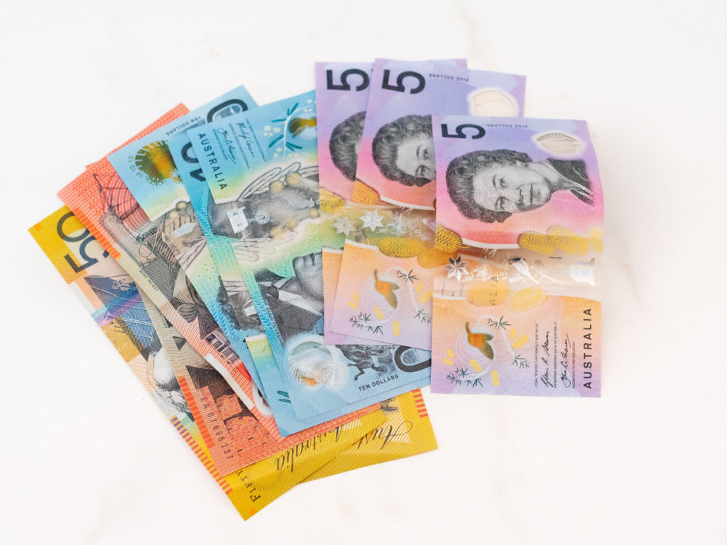 australian bank notes. signifies the money left on the table by not having a website professionally designed.